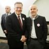 Prezydent RP Bronisław Komorowski i Jacek Bożek podczas gali obchodów 25. lecia Wolności