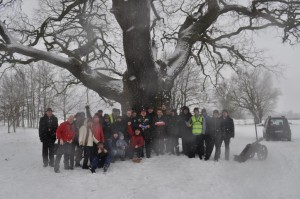 Wizyta Tree Huntera Roba McBride u Słowianina. Fot. Klub Gaja.