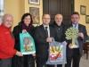 Oficjalne przywitanie Roba McBride w Urzedzie Miasta i Gminy Jelcz Laskowice. Od lewej: Rob McBride, Jolanta Migdał, Marek Szponar, Jacek Bożek i Bogdan Szczęśniak.