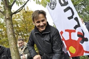 Bartłomiej Topa - ambasador Święta Drzewa. Fot. Klub Gaja.